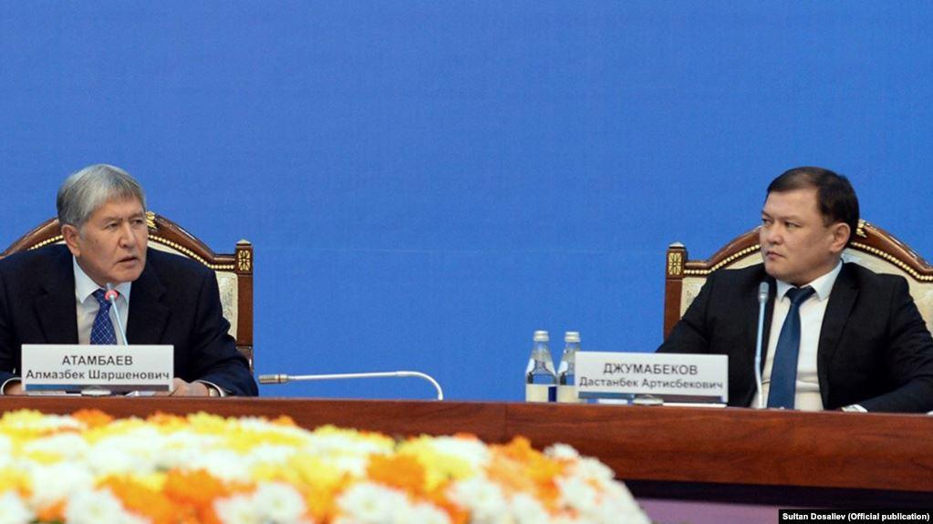 Төрага Жумабеков Атамбаевге: Матраимовдор - элге кызмат кылган үй-бүлө