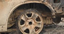 Бишкекте унаа оңдогон жайдан чыккан өрттөн 8 машина күйүп кетти