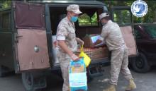 Российские военные передали медикам кыргызстана 250 кг продуктов