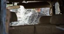 Машина талкаланган. Бишкектин четиндеги үрөй учурган кырсыктын видеосу