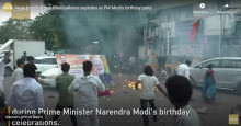 Индия: премьердин туулган күнүндө 100 шар жарылып кетип, адамдар жабыркады
