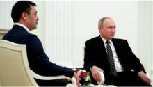 Путин впервые встретился с президентом Киргизии Жапаровым